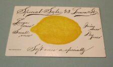 1908 Special Sale 23 Lemon Street Helena Montana Embossed Advertising Postcard