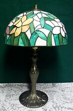 Tiffany Style Floral Daffodil Flowers Stained Glass Table Lamp