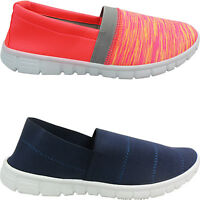 NEW WOMENS LADIES PLIMSOLLS GO WALKING COMFORT PUMPS TRAINERS SIZE SNEAKERS