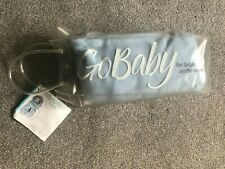 New GoBaby for babies on the move wrap soft warm blanket blue 0-6 months