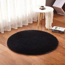 Polyester Non-slip Rugs Carpet Circle Round Floor Mat Decor Comfy Pure Color BIN