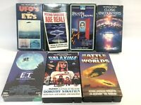 Lot 7 VHS Movies Tapes UFO Alien Flying Saucers ET's VCR Science Fiction Sci Fi