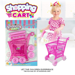 Supermarket Kids Children Shopping Trolley Cart Role Play Set Toy AU Post