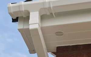 White Square Guttering UPVC Eurocell Squareline Rain System Downpipes