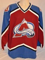VTG Authentic Colorado Avalanche Starter NHL Hockey Jersey L Throwback