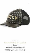 Gucci Mens Star Print Baseball Cap. 58/M. $690