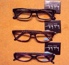 Lot 3 Nicole Miller Women Lisa/Willow/Channing Spring Hinge Reading Glasses+1.25