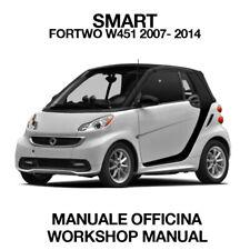 SMART FORTWO W451 2007 / 2014. Service Manuale Officina Riparazione Workshop