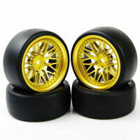4PCS 1/10 Drift Racing Tires Wheel Rim 12mm Hex For RC HSP HPI On Road Model Car