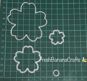 Brand New 4 Piece Mothers Day 3D Flower Metal Die Cutter Uk Seller Fast Post