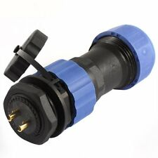 2Pin Waterproof Aviation Plug Socket Cable Connector IP68 SD20 20mm