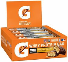 Gatorade Whey Protein Recover Bars Chocolate Caramel 2.8 oz bars (12 Count)