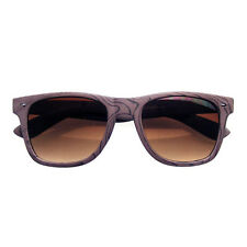 571df45fd48 Unique Style Indie Fashion Wood Print Retro Horned Rim Sunglasses Brown Wood