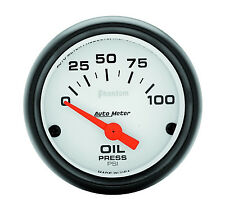 Auto Meter Phantom Electric Oil Pressure Press Gauge 2-1/16 in. 0-100 psi (52mm)