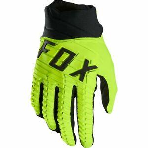 New 2022 Fox 360 Motocross Gloves Flo Yellow Medium  25793-110-M