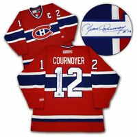 Yvan Cournoyer Montreal Canadiens Autographed Retro CCM Hockey Jersey with COA