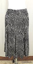 Apt. 9 Stretch L Giraffe Animal Print Pull On Full A Line Easy Living Skirt