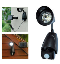 RECHARGEABLE LED SECURITY LIGHT WITH SOLAR PANEL HOME GARDEN