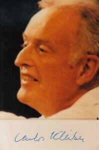 Carlos Kleiber --- original signiert - A5#14f