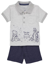 Disney Baby Boy Winnie the Pooh Polo Shirt Top and Shorts Outfit 3-6 Months BNWT