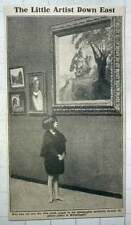 1921 Barefoot Girl Sauntering Through Picture Gallery In Whitechapel