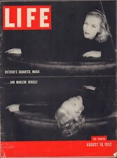 LIFE August 18,1952 Marlene Dietrich & Daughter / Spain / French Roadside Murder