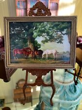 Dollhouse Miniature Painting Artisan Signed Leslie Smith--ESTATE--Fabulous!!