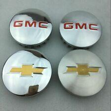 """4X 83mm 3.25"""" Matte/Gloss Wheel Center Hub Caps Emblem Badge for GMC Chevrolet"""