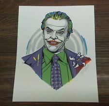 Tyler Stout The Joker Jack Nicholson Pros N Cons 5 Handbill Print Mondo Art