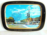 "1964-65 New York Worlds Fair Unisphere 21.5x15.75"" Souvenir Metal Tray FREE SH"
