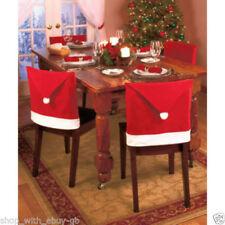 Décorations de table de Noël housses de chaise rouge pour Noël pour la maison
