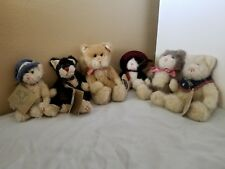 Lot of 6 Boyds Bears & Friends Plush Cats w/Tags Great Condition! Rare!