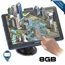 "XGODY 7"" PKW Auto GPS Navigation Navigationsgerät 8GB 256MB Navi Lifetime Maps"