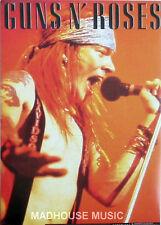GUNS N ROSES Axel Singing POSTCARD - OLIVER BOOKS UK Official 1994 Cat OB044