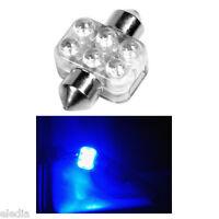 Ampoule Navette C3W 31 mm 31mm 6 LED Bleu habitacle Plafonnier Coffre boite gant