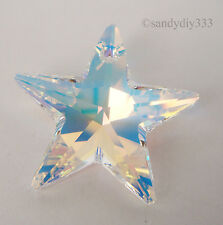 1x SWAROVSKI #6714 CLEAR CRYSTAL AB 28mm STAR CRYSTAL PENDANT