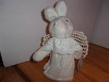 Hallmark Cheribina Furry White Bunny Angel Holiday Toy