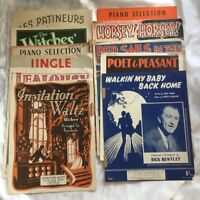 1900's original Sheet Music Job Lot See Pictures For Content Free Shipping