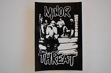 """Minor Threat Sticker Decal Bumper Window Indoor/Outdoor Approx. 5"""" X 3.5"""" (243)"""