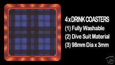 4  x  SCOTTISH TARTAN - CLAN - SWAN - DRINK COASTERS - Re-usable Washable