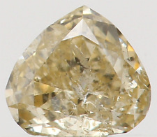 Natural Loose Diamond Yellow Color Heart I1 Clarity 3.80 MM 0.18 Ct L5529