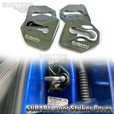 For SUBARU WRX STI Stainless Car Steel Door Lock Protective Cover Striker Black