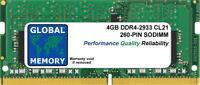4GB DDR4 2933MHz PC4-23400 260-PIN SODIMM MEMORY RAM FOR LAPTOPS/NOTEBOOKS