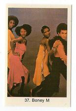 1970s Swedish Pop Star Card #37 German disco group Boney M