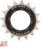 "ACS PAWS 4.1  16T   3/32"" TEETH NICKEL BICYCLE FREEWHEEL"