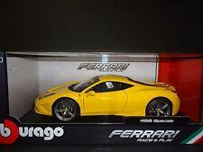 Bburago Ferrari 458 Speciale Yellow 1/18