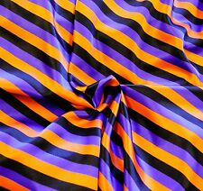 """Stretch charmeuse Satin SOFT Halloween Striped Pantie Lingerie Farbic 45"""" BTY"""