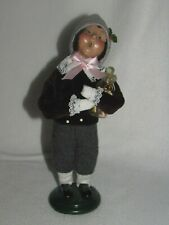 Byers Choice 1998 Boy Holding Peppermint Candy Jar - Euc