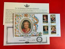 TOKELAU 1996 FDC BENHAM QUEEN ELIZABETH 2 70TH BIRTHDAY LTD EDITION