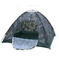 3-4 Person Outdoor Camping Hiking Waterproof Folding Hiking Tent Camouflage